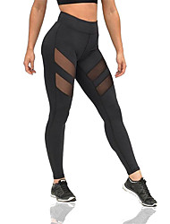 Yoga Pants Pants/Trousers/Overtrousers Breathable Comfortable Compression Sweat-wicking Natural Stretchy Sports Wear Black Women'sYoga