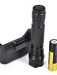 2000lm xm-l t6 conduit 18650 tactique lumière de la lampe torche lampe de poche (5 types de couleur lumineuse ensemble complet)