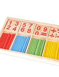 Gioco educativo Giocattoli per il regalo Costruzioni Giocattoli innovativi e scherzi Legno Da 2 a 4 anni Arcobaleno Giocattoli