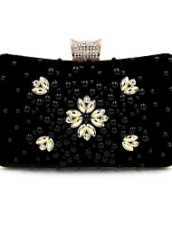 L.west Women Elegant High-grade Flannelette Beaded Diamonds Evening Bag