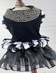 Pet Dog Wedding Dress Skirt Black Velvet Dress Dog Clothes Clothing