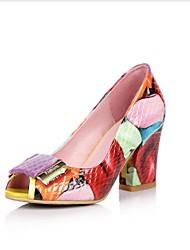 sapatos clube saltos verão das mulheres do couro vestido