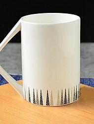 Минимализм Стаканы, 400 ml Теплоизолированные Керамика Чайный Телесный Чайные чашки