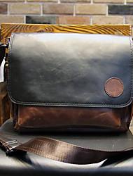 Men Shoulder Bag PU Casual Brown