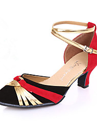 Female adult square dance shoes women's dancing shoes with soft bottom in the dance Latin dance shoes