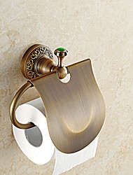 European Style Brass Jade Bathroom Shelf Bathroom Toilet Paper Holders Bathroom Accessories