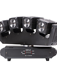 u'king® quatre faisceaux tête 80W RGBW 4 dans une conduit de lumière de la tête mobile 13 / 25chs pour 1pcs lumineux stade dj disco