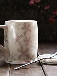 1pcs Minimalism Drinkware 355 ml Boyfriend Gift Girlfriend Gift Ceramic Coffee Milk Coffee Mug With Spoon Cover