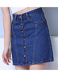 funktionsJeansRock weibliche hohe Taille unterzeichnen Röcke ein Wort Rock Rock Kinder neuen Frühling und Sommer 2017