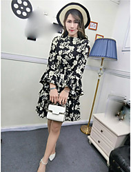 Sign new spring loose chiffon long-sleeved dress suit