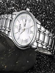 Мужской Модные часы швейцарцы Оригинальный рисунок Кварцевый Нержавеющая сталь Группа Cool Повседневная Синий Красный