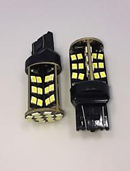 haute puissance blanc 10w t20 7443 W21W 60smd 2835 puces LED sauvegarde ampoule arrière 2pcs lampe DC12V