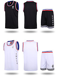 Men's Soccer Clothing Sets/Suits Breathable Comfortable Spring Summer Fall/Autumn Winter Solid Polyester Basketball Football/SoccerWhite