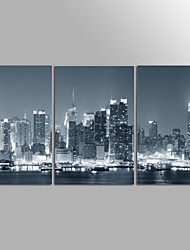 Canvas Print City Landscape Modern Three Panels Canvas Horizontal Print Wall Decor For Home Decoration
