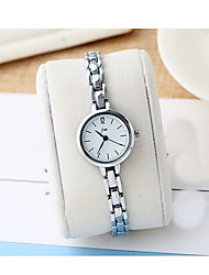 Women's Fashion Watch Quartz Alloy Band Casual Silver