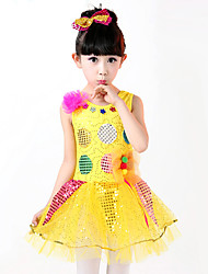 Shall We Ballet Dresses Children Performance Splicing Appliques Dress