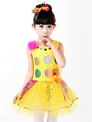 Devemos vestidos de balé para crianças vestir roupas de splicing