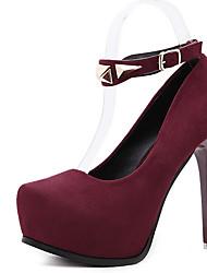 Women's Heels Spring Other Fleece Dress Stiletto Heel Beading Black Burgundy