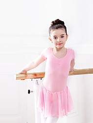 Ballet Dresses Children's Training Chiffon Cotton Spandex 1 Piece Dress