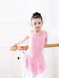 Balé Vestidos Crianças Treino Chiffon Algodão Elastano 1 Peça Vestido