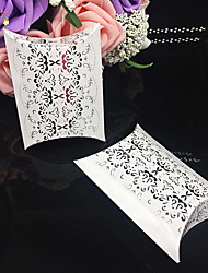 50pcs/lots Lace Flower Sliver Pillow Wedding Candy Box Wedding And Party Gift Box Paper Box Party Supplies