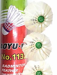 Бадминтон Мячи(Белый,Утиное перо) -Водонепроницаемый Износоустойчивость