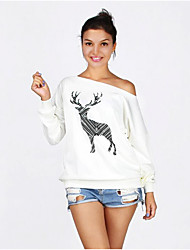 aliexpress ebay Explosion Modelle Frauen&# 39; s Pullover mit langen Ärmeln Mantel weiblichen schiefer sexyer Weihnachten Hirsch