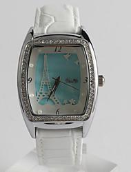 Fashion Watch Quartz / PU Band Casual White Brand