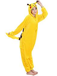 Kigurumi Pijamas Pika Pika Leotardo/Pijama Mono Festival/Celebración Ropa de Noche de los Animales Halloween Amarillo RetazosDisfraces de