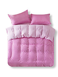 Mingjie Reactive Peach Stripe Bedding Sets 4 Pcs for Queen Size Contain 1 Duvet Cover 1 Bedsheet 2 Pillowcases from China