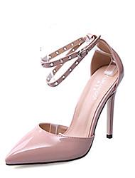 Damen-High Heels-Kleid-Lackleder-Stöckelabsatz-Andere-Schwarz Mandelfarben