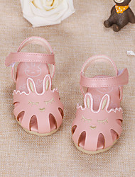 Baby Flats Comfort Flower Girl Shoes Leatherette Spring Fall Casual Outdoor Walking Comfort Flower Girl Shoes Magic Tape Low HeelWhite