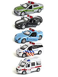 Polizeiauto Rettungswagen Fahrzeug-Spiele nach Themen Auto Spielzeug 1:64 Metall Plastik Regenbogen Model & Building Toy