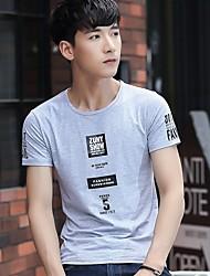 Sommer Zustrom von Männern&# 39; s Kurzarm-Baumwolle Rundhals-T-Shirt Druck koreanischen dünnen mitfühlend Jugend Sommer Kurzhülse