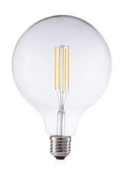 4w e26 ampoules à fil filé g125 4 cob 450 lm chaud blanc dimmable décoratif ac 220-240 v 1 pcs