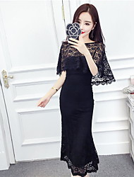 2017 + new shawl cape coat ladies temperament sexy package hip Slim lace dress Bra Set