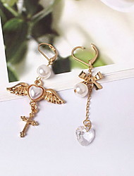 Drop Earrings Earrings Set Crystal Imitation Pearl Imitation Pearl Resin Glass Alloy Heart Cross Wings / Feather Gold Jewelry Daily Casual