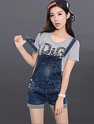 signe une salopette en denim Jianling shorts femmes 2017 nouveau printemps et en été