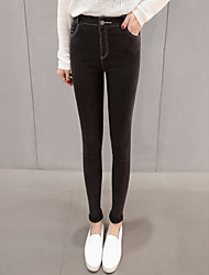 Korean version of the Slim was thin elastic outer wear tight black jeans leggings