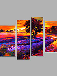 Hand-Painted Modern Abstract Oil Painting Four Panel Canvas Oil Painting Multi Split Oil Painting