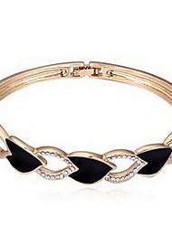 Mulheres Bracelete Jóias Amizade Moda Cristal Liga Forma Geométrica Branco Preto Rosa claro Jóias Para Aniversário 1peça