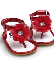 Kids' Sandals Summer First Walkers Fabric Wedding Party & Evening Dress Casual Flat Heel Applique