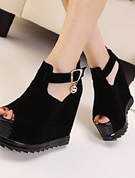 Women's Sandals Comfort Suede Casual Wedge Heel