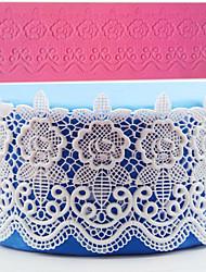 1Pcs Rose Flower Flip Sugar Sugar Cake Surrounding Edge Mould Lace Mat DIY Baking Decoration Mold
