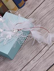 Crystal tulle net headpiece-wedding occasion spéciale casual haircut extérieur 1 pièce