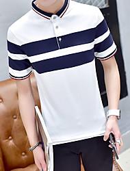 Männer&# 39; s kurz-sleeved Polohemd Revers Sommer männliches T-Shirt dünne Yards