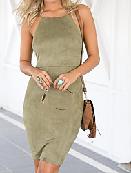 European and American foreign trade of the new package hip Slim Leather cashmere sleeveless bandage dress