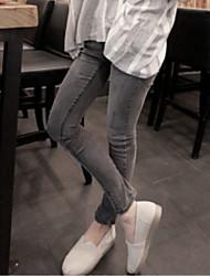 Новый джинсы женский серый дым был тонкий штаны карандаш жесткие стрейч штаны ноги тонкий корейский прилив