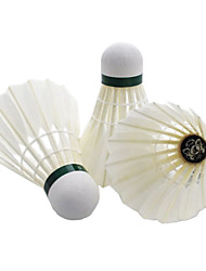 12 × 2 Badminton Volants de plumes Durable Stabilité pour Intérieur Extérieur Utilisation Exercice Sport de détente Plume de canard