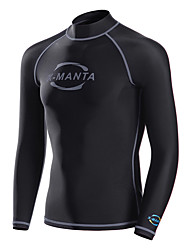 Dive&Sail Men's Wetsuit Top Anatomic Design Breathable Compression Sunscreen Neoprene Diving Suit Long Sleeves Top-Diving Spring Summer